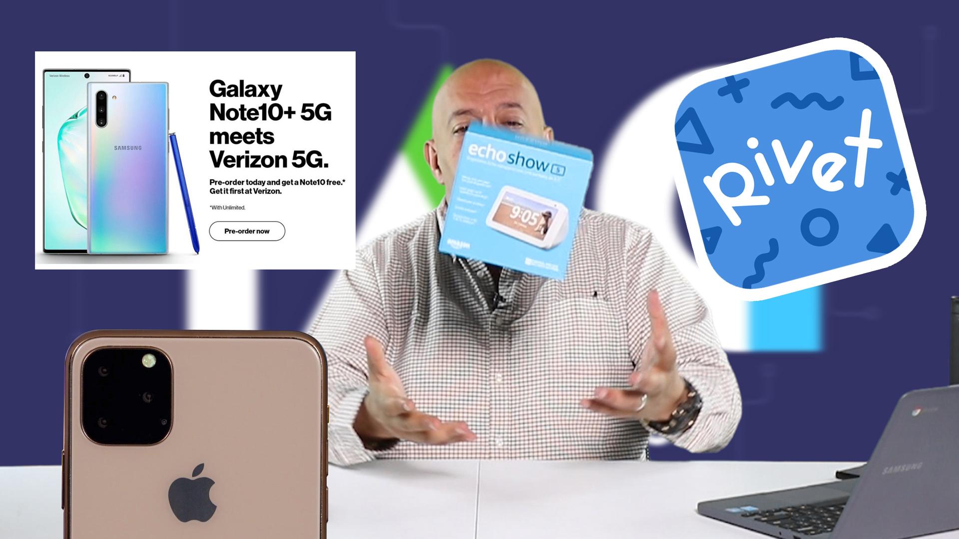 TAG 357: unboxing  Echo Show 5 y filtraciones de  Note 10, iPhone 11 y Mate 30. Noticias en tiempo real
