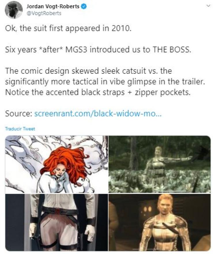 Director De Metal Gear Dice Que Black Widow Es Una Copia De