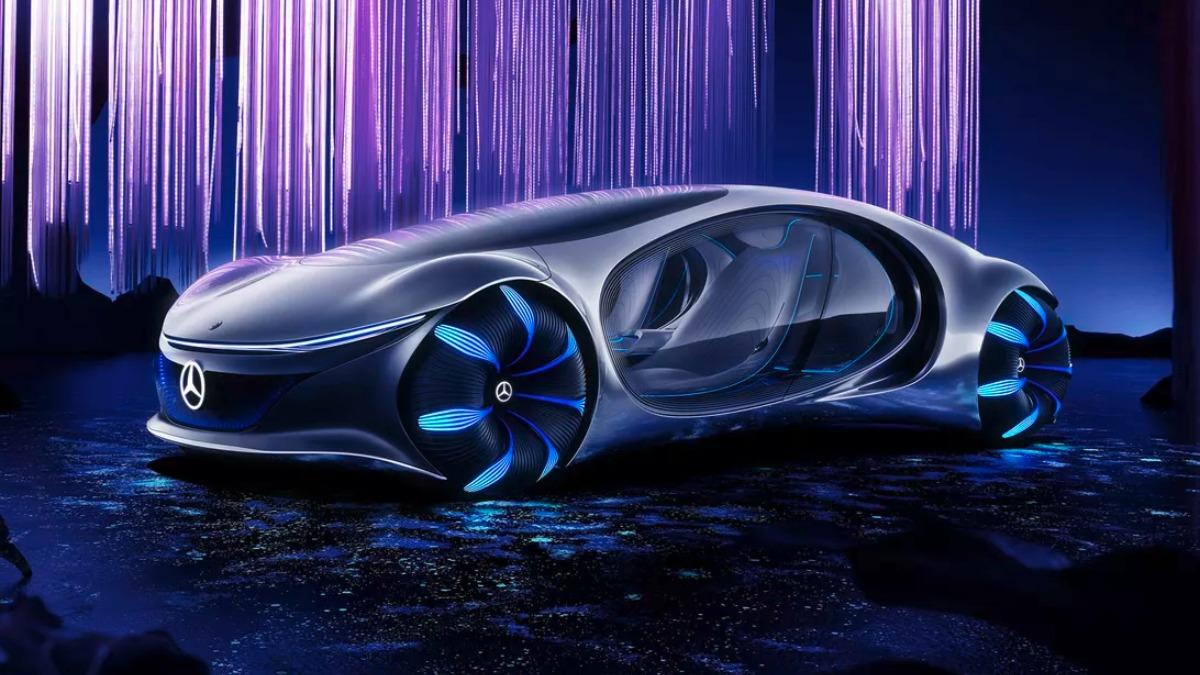 El auto de Avatar que presentó Mercedes-Benz en CES 2020