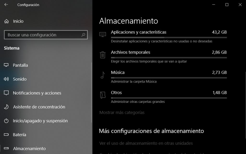 Cómo borrar la caché y liberar espacio en Windows 10 Image-124-1024x644