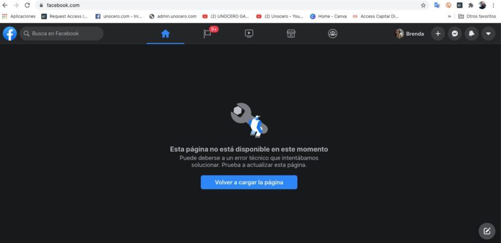 Facebook Presenta Fallas En La Versión De Escritorio