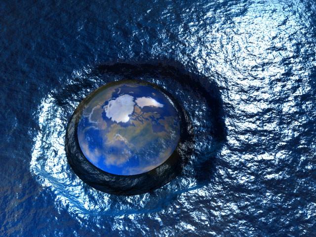 Calentamiento global: zonas de EE.UU. sepultadas por el mar.